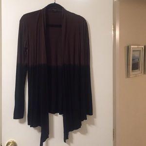 Black/brown Draped Sweater
