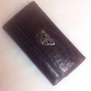 67% off Prada Handbags - Prada Patent Leather Zip Around Wallet ...