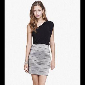 Express silver mini skirt