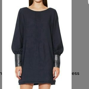 Karen Zambos Dresses & Skirts - Karen Zambos Pintuck Bishop Sleeve dress