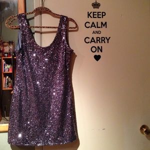 Dresses & Skirts - Silver/Metallic Sequin Dress
