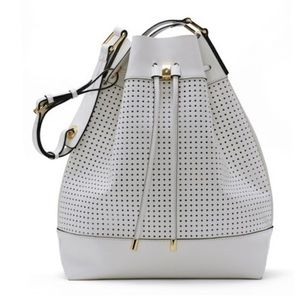 Vince Camuto Bags - Vince Camuto White Leather Bucket Bag!