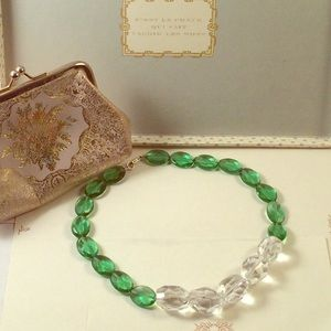 """Jewelry - Faceted Large Beaded Quartz Silver Necklace 16"""""""