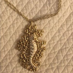 Lilly Pulitzer Palm Beach Gold Seahorse Necklace