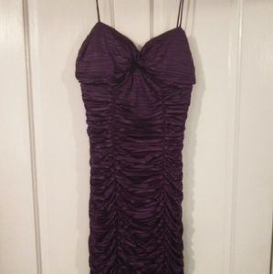 Textured purple party dress