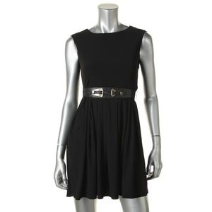 ALFANI Black Stretch Wear to Work Dress Petites PS