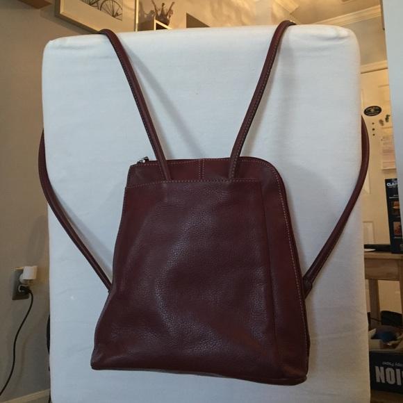 7e40cc674e Clarks Handbags - Clarks Leather Convertible Shoulder Bag/Backpack