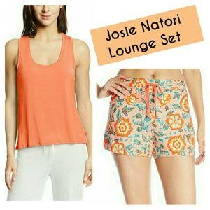 Josie Natori Lounge Set Tank & Paisley Shorts