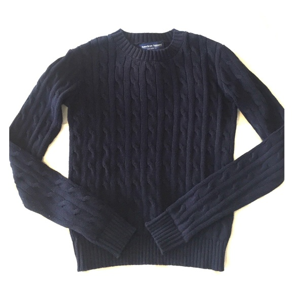 86% off American Apparel Sweaters - American Apparel cable knit ...