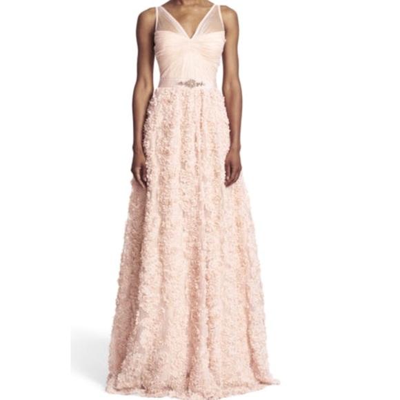 67601bab1a786 Embellished Petal Chiffon Ball Gown