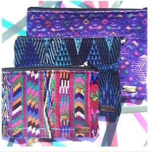 Ketzali Handbags - Ketzali Recycled Textile Zippered Bag Pouch
