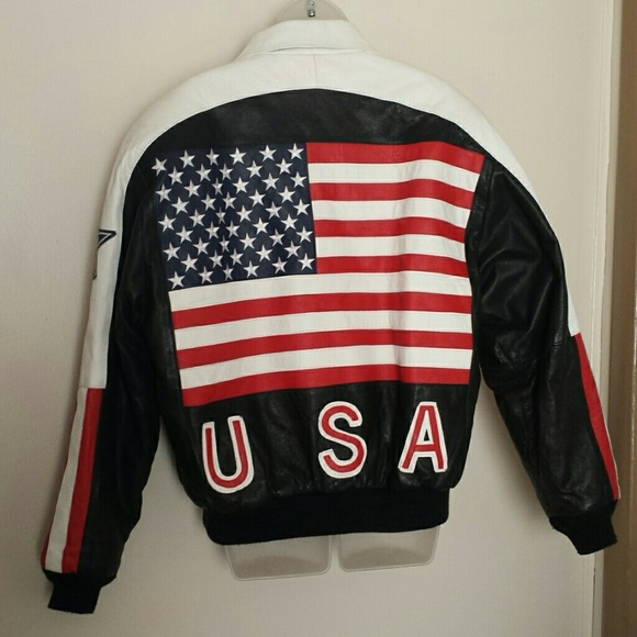 d4078956a89 USA Leather jacket!! M 56d328914225be50e6003f87