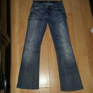 7FAM boot cut jeans