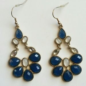 Navy Drop Earrings