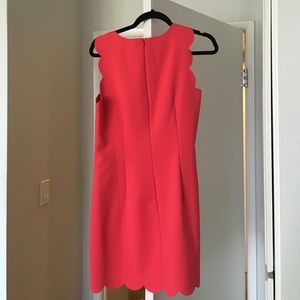 J. Crew Dresses - Red/coral jcrew scallop dress