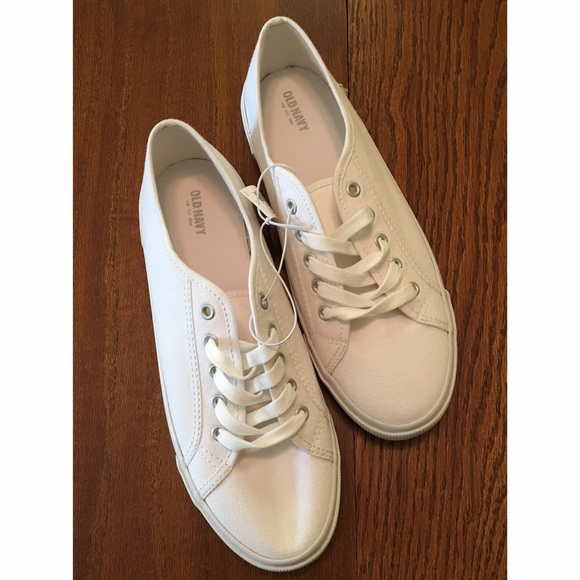 Nwt Old Navy White Canvas Sneakers