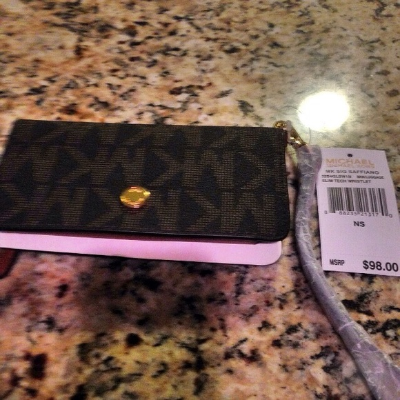 904498277e58f authentic MK wallet and cell phone holder