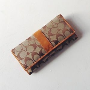 {Coach} Monogram Canvas Wallet