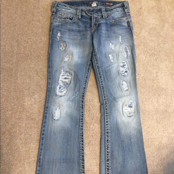 80% off Silver Jeans Denim - EUC Buckle Silver brand jeans from