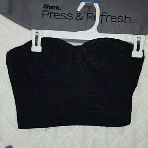 Forever 21 crop bustier top with clasp back