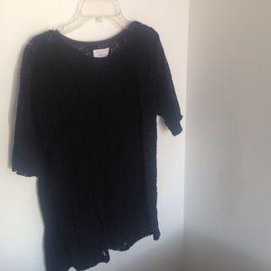 ZARA black lace knit top size M
