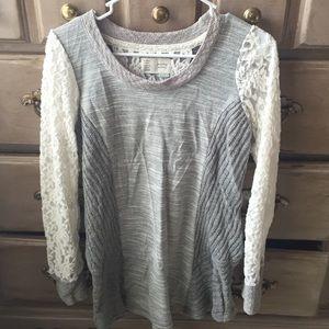 Mixed media Sweater top