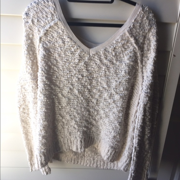 40% off Free People Sweaters - Free People V- Neck Crochet ...