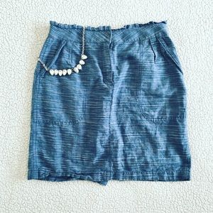 J. Crew | Blue Skirt with Pockets