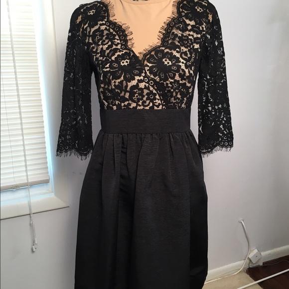 556ae0d437b Eliza J Dresses   Skirts - Eliza J Lace   Faille cocktail dress ...
