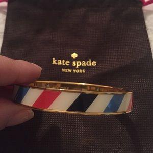 Striped Kate Spade Bangle