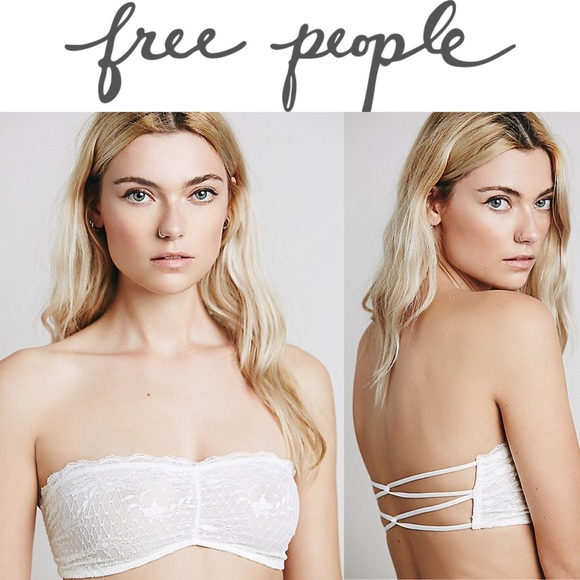 f8dc448e928 NWT Free People Essential Lace Bandeau in White!!