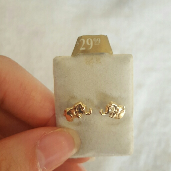 Pagoda jewelry 14k gold little elephant earrings poshmark 14k gold little elephant earrings freerunsca Images