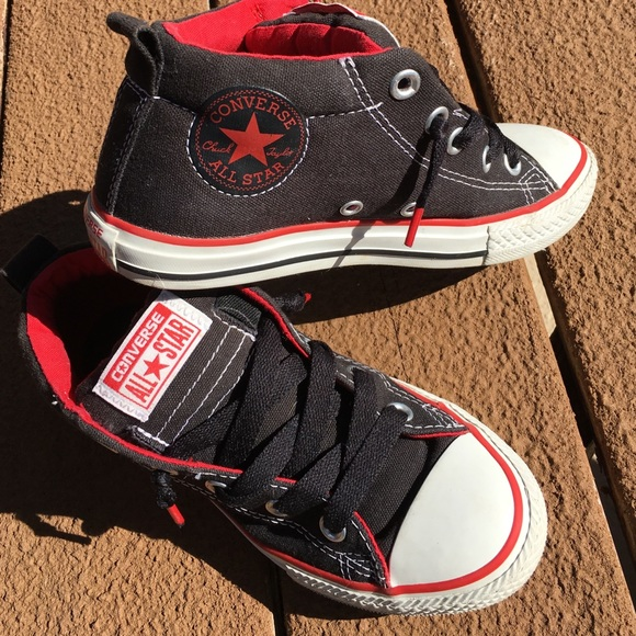 fc18f9c497798c Converse Other - Black   red Converse 3 4 top sneakers kids size 2.