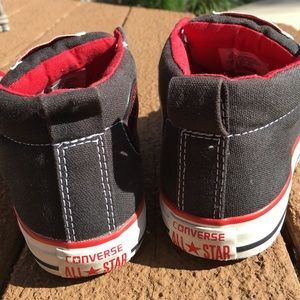7a3836236ce671 Converse Shoes - Black   red Converse 3 4 top sneakers kids size 2.