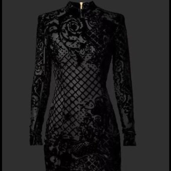 7f5a86826314f Balmain Dresses | X Hm Black Velvet Dress Nwt | Poshmark