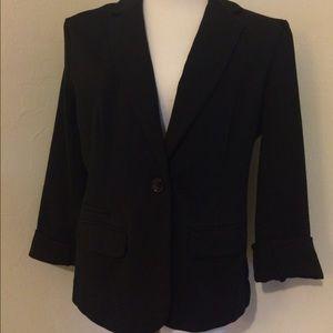 Merona Jackets & Blazers - Merona black one button knit blazer