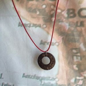 Jewelry - FINAL SALE Wooden pendant necklace