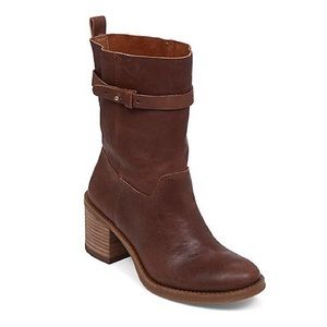 🆕LISTING Lucky Brand Slouch Moto Brown Boots #8