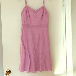 LOFT lilac linen blend dress NWOT
