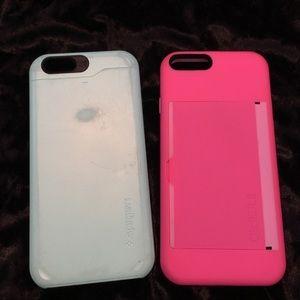 iPhone 6/6s card holder case Incipio and Spigen