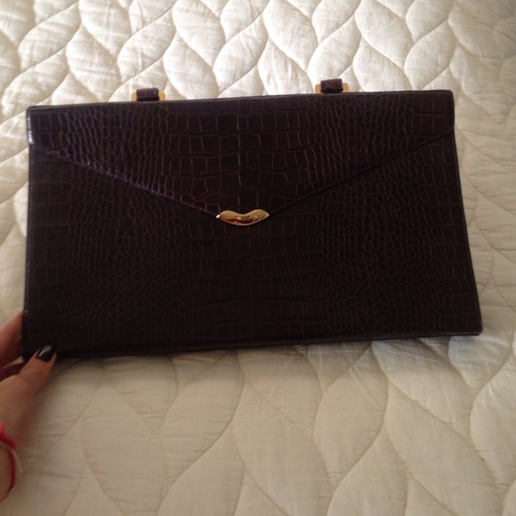 5803fb20584 Ralph Lauren Bags   Lauren Envelope Clutch   Poshmark