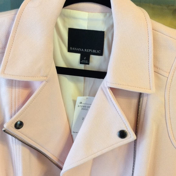 Banana Republic Jackets & Coats - Banana Republic Pink Moto Jacket BNWT