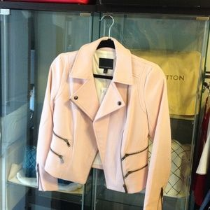 Banana Republic Jackets & Blazers - Banana Republic Pink Moto Jacket BNWT
