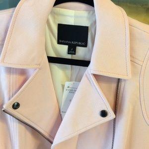 Banana Republic Jackets & Coats - Banana Republic Pink Moto Jacket BNWT