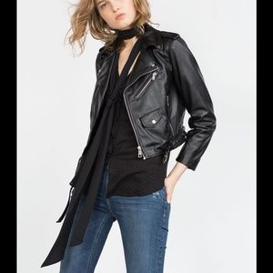 Zara Jackets & Blazers - Zara Faux Leather Jacket Size small