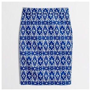 J. Crew blue grotto pencil skirt