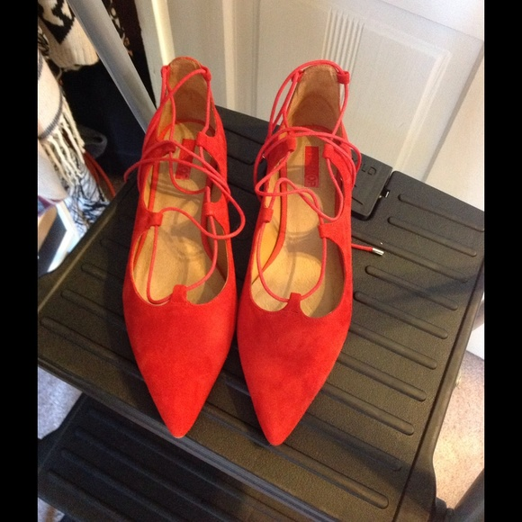 Topshop Shoes - Size 9 from Topshop Ballet lace up flats