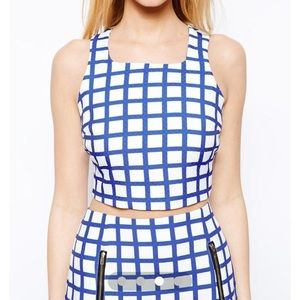 NEW Grid print crop top