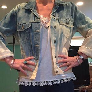 Vintage Bleach Denim Jean Jacket