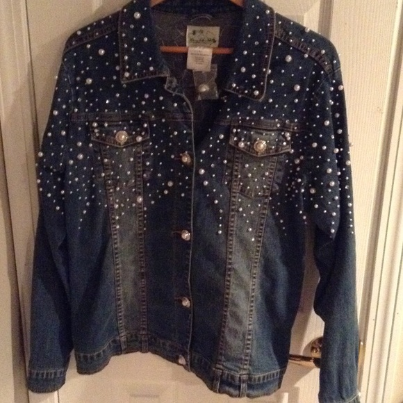 Quacker Factory Women S Gorgeous Jean Jacket With Pearls